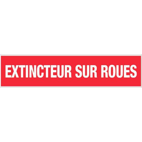 Panneau Extincteur sur roues - Rigide 330x75mm - 4120423