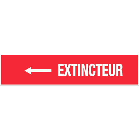 Panneau Extincteur flèche à gauche - Rigide 330x75mm - 4120447