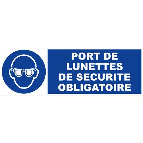 Panneau Port de lunettes de sécurité obligatoire - Rigide 450x150mm - 4030609