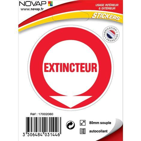 Panneau Extincteur (texte) - Vinyle adhésif Ø80mm - 4031446