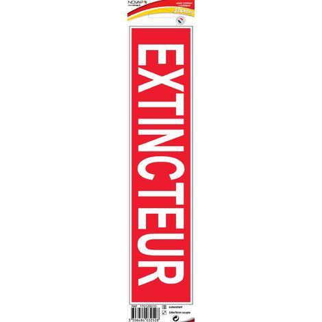 Panneau Extincteur (texte) - Vinyle adhésif 330x75mm - 4032528