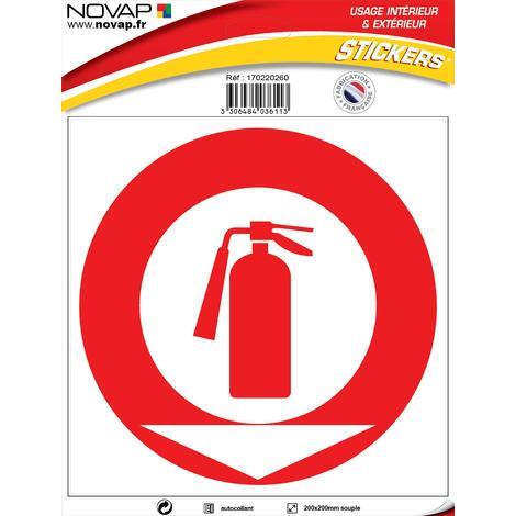 Panneau Extincteur symbole - Vinyle adhésif 200x200mm - 4036113