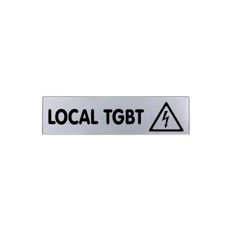Plaquette Local TGBT - Plexiglas argent 170x45mm - 4321615