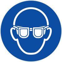 Panneau Port lunettes sécurité obligatoire - Rigide Ø180mm - 4041070
