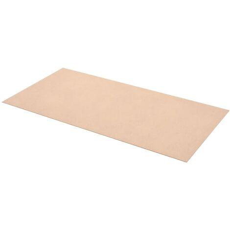vidaXL Láminas de MDF rectangulares 10 unidades 120x60 cm 2,5 mm - Beige