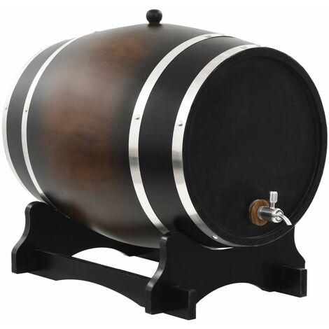 vidaXL Barril de vino con grifo madera de pino maciza 35 L