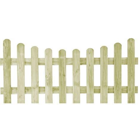 vidaXL Puerta de valla de madera de pino impregnada 170x80 cm - Verde
