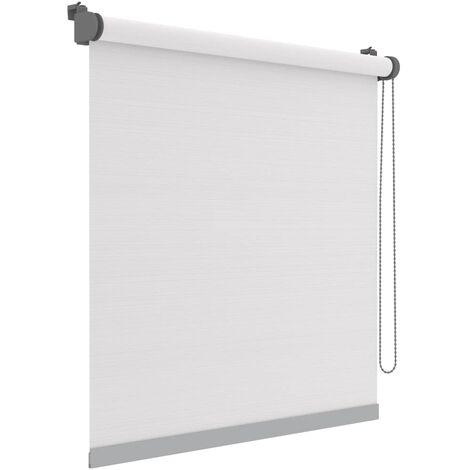 Decosol Mini estor enrollable Deluxe translúcido blanco rayas 67x160cm - Blanco