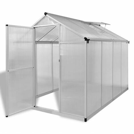 vidaXL Invernadero de aluminio reforzado con marco base 4,6 m² - Transparente