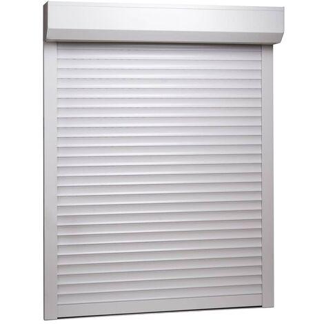 vidaXL Persiana Enrollable Aluminio Blanca 70x100 cm - Blanco