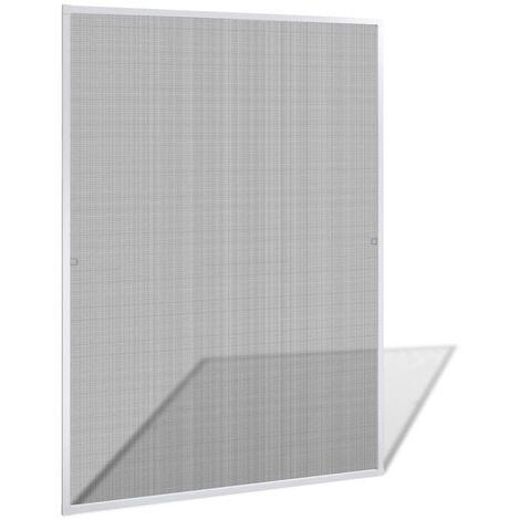 Mosquitera blanca de ventanas, 130 x 150 cm - Blanco