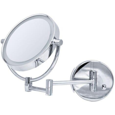 RIDDER Espejo de maquillaje Sadé con LED - Plateado