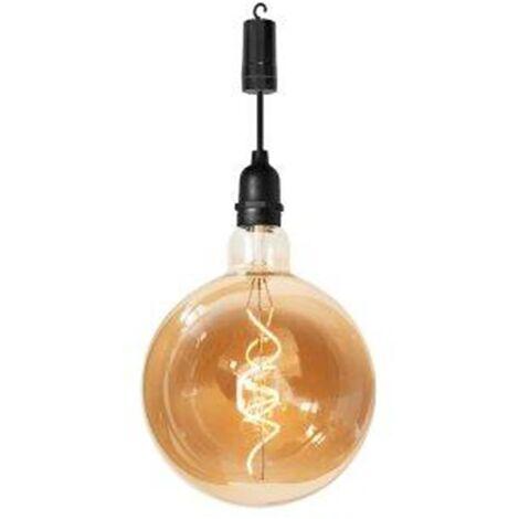 Luxform Bombilla LED de jardín a pilas Sphere - Negro