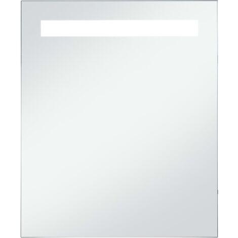 vidaXL Espejo de pared de baño con LED 50x60 cm - Plateado