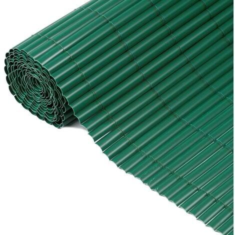 Nature Valla cañizo de ocultación de jardín PVC verde 1x3 m - Verde