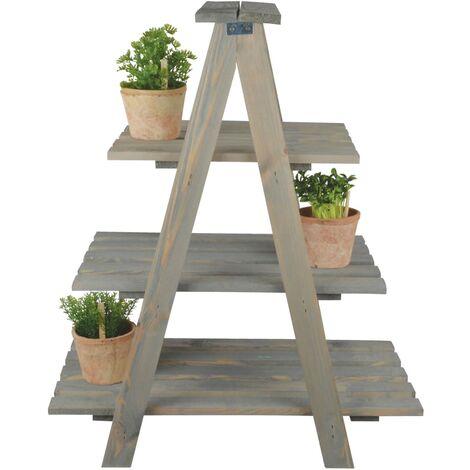 Esschert Design Escalera triangular para macetas - Marrón