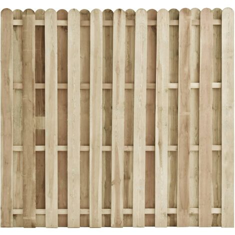 vidaXL Panel de valla de madera de pino impregnada 180x170 cm - Marrón