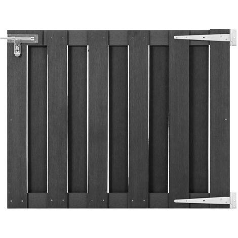 vidaXL Puerta de jardín de WPC gris 100x80 cm - Gris