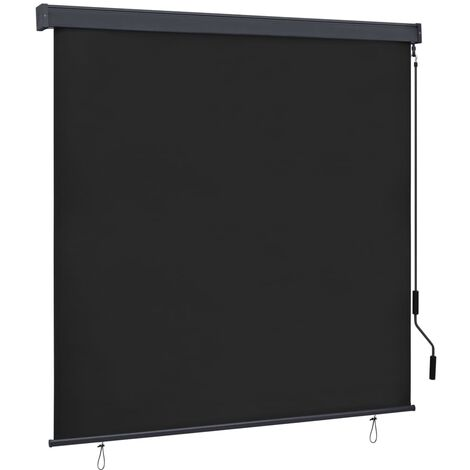 vidaXL Estor enrollable de exterior gris antracita 160x250 cm - Gris