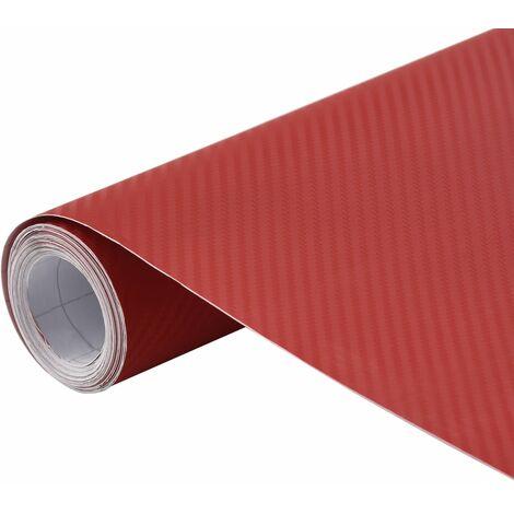 vidaXL Lámina para coches rojo mate 3D 200x152 cm