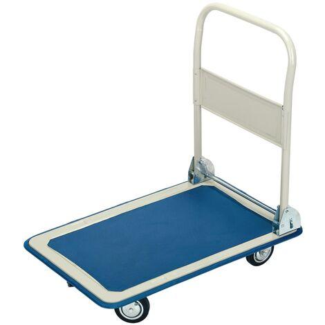 Draper Tools Carro plataforma asa plegable azul y blanco 63x48x85 cm - Azul