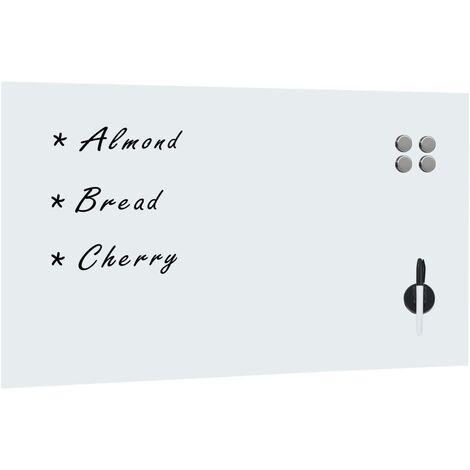 vidaXL Pizarra magnética de pared vidrio 120x60 cm - Bianco