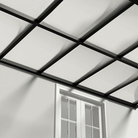 vidaXL Paneles de policarbonato 4 unidades 4 mm 113x60,5 cm