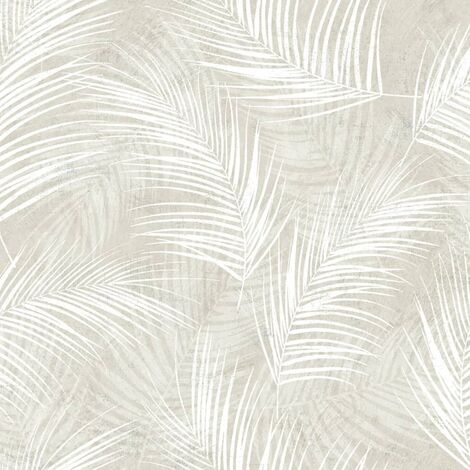 DUTCH WALLCOVERINGS Papel de pared Palm beige - Beige