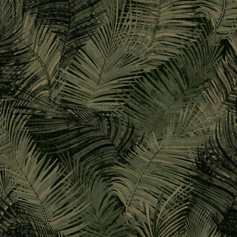 DUTCH WALLCOVERINGS Papel de pared Palm verde - Verde