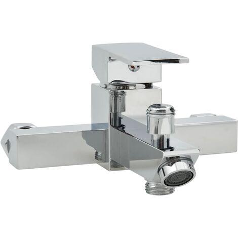 vidaXL Grifo mezclador de bañera con termostato cromado