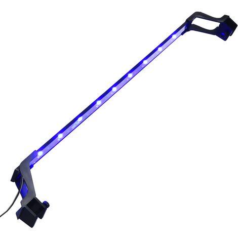 vidaXL Luz LED para acuario con abrazaderas azul y blanco 75-90 cm