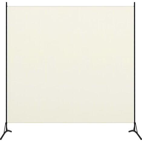 vidaXL Biombo divisor de 1 panel blanco crema175x180 cm - Crema