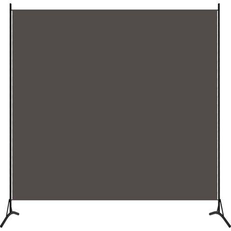 vidaXL Biombo divisor de 1 panel gris antracita 175x180 cm - Antracita