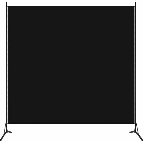 vidaXL Biombo divisor de 1 panel negro 175x180 cm - Negro