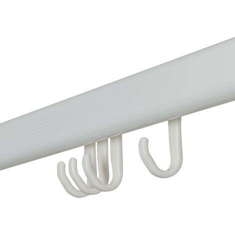 Sealskin Barra de cortina de ducha Easy-Roll blanca - Blanco