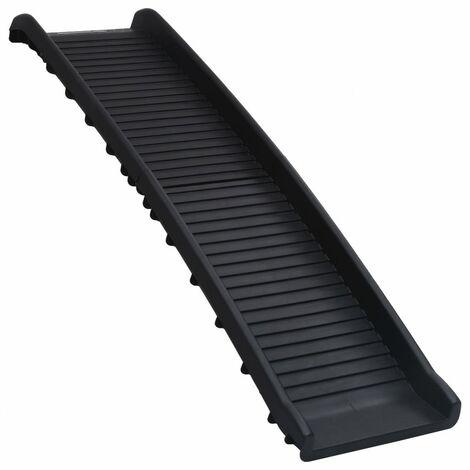 vidaXL Rampa para perros plegable negra 155,5x40x15,5 cm - Negro