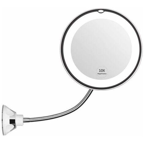 MESA LIVING Espejo flexible con luz LED - Blanco