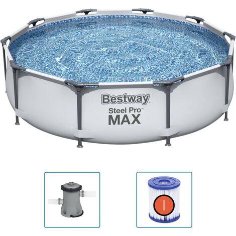 Bestway Piscina de acero Pro MAX 305x76 cm - Grigio