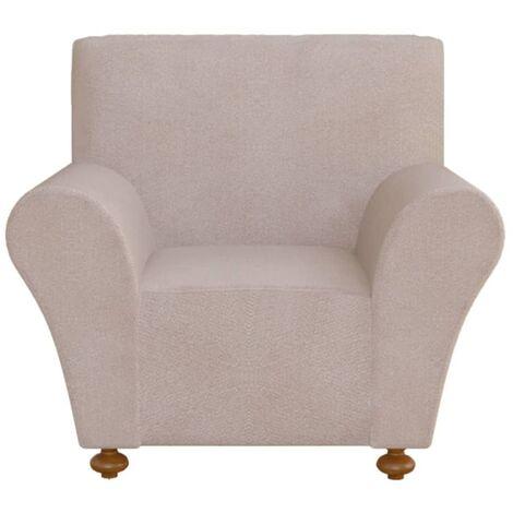 vidaXL funda elástica para sofá de tela jersey de poliéster color beige - Beige