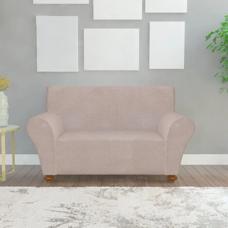 vidaXL funda elástica para sofá de tela jersey de poliéster beige - Beige
