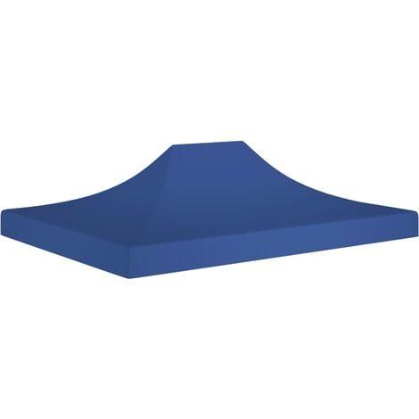 vidaXL Techo de carpa para celebraciones azul 4,5x3 m 270 g/m² - Azul