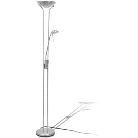 vidaXL Lámpara de pie LED regulable 23 W  - Plateado