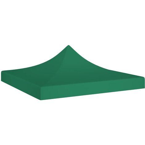 vidaXL Techo de carpa para celebraciones verde 3x3 m 270 g/m² - Verde