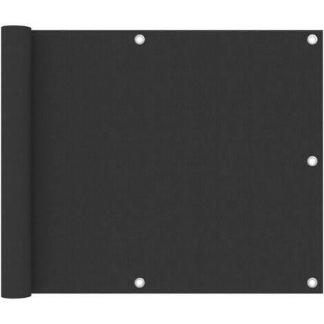 vidaXL Biombo para balcón de tela oxford antracita 75x300 cm - Antracita