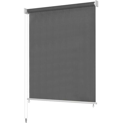 vidaXL Persiana enrollable de exterior 120x140 cm gris antracita - Antracita