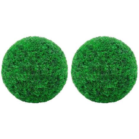 vidaXL Bolas de boj artificial 2 unidades 45 cm - Verde