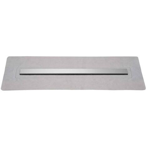 SCHÜTTE Desagüe de ducha con tapa de acero inoxidable 90 cm
