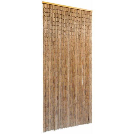 vidaXL Cortina para puerta 90x200 cm bambú - Marrón