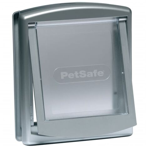 PetSafe Puerta mascotas 2-vías 737 pequeña 17,8x15,2 plateado 5019 - Plateado