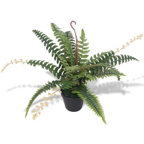 vidaXL Planta Artificial con Macetero Helecho 50 cm Verde - Verde